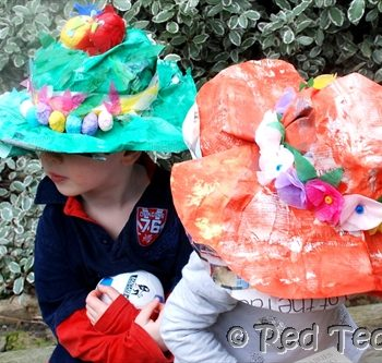 Newspaper Easter Bonnets