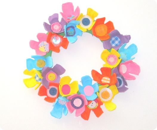 Egg Carton Spring Wreath