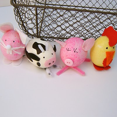 Farm Animal Easter Eggs