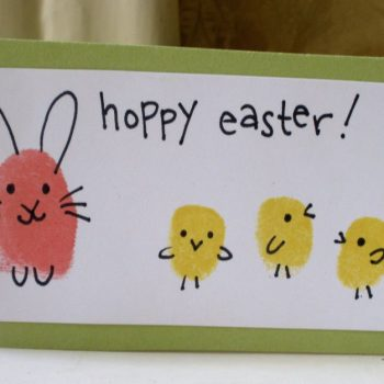 Hoppy Easter Fingerprint Bunnies & Chicks