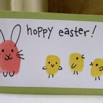 Hoppy Easter Fingerprint Bunnies & Chicks