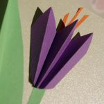 Mother's Day Paper Crocus Card