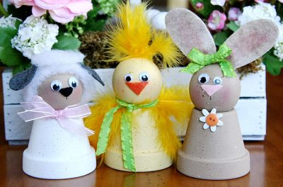 Spring Flowerpot Pals Fun Family Crafts