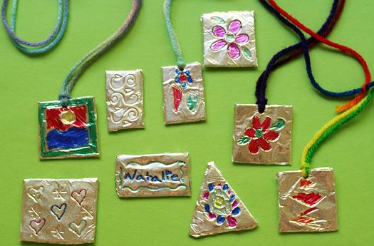 Foil Pendants Fun Family Crafts