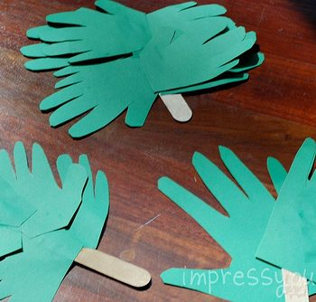 Handprint Palm Branches for Palm Sunday