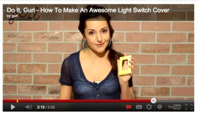 Video: Make a Light Switch Cover