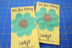 Lucky St. Patrick's Day Scratch-Off Cards