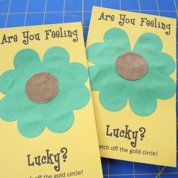 Lucky St. Patrick's Day Scratch-Off Cards