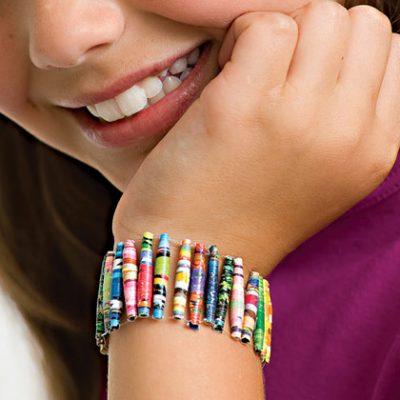 Magazine Bead Bracelet