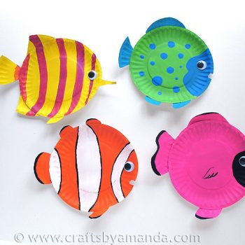 Paper Plate Tropical Fish & Paper plate crafts Archives | Fun Family Crafts