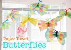 Paper Towel Butterflies