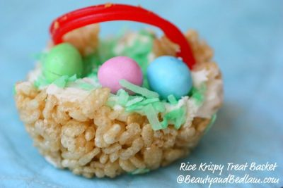 Rice Krispie Easter Baskets