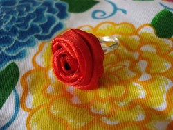 Ribbon Rose Rings