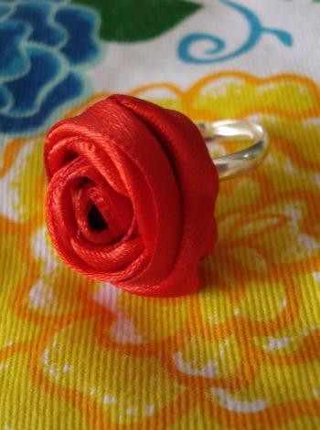 Ribbon Rose Rings