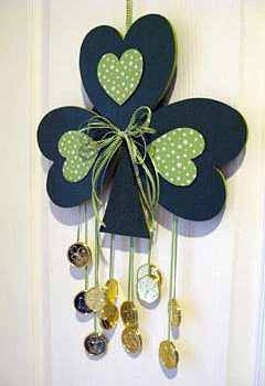 St. Patrick's Day Shamrock Door Decoration