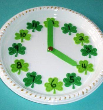 Shamrock Paper Plate Clock