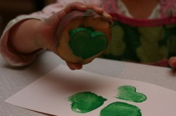 Shamrock Potato Prints