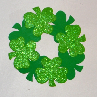 Shamrock Wreath Fun Family Crafts