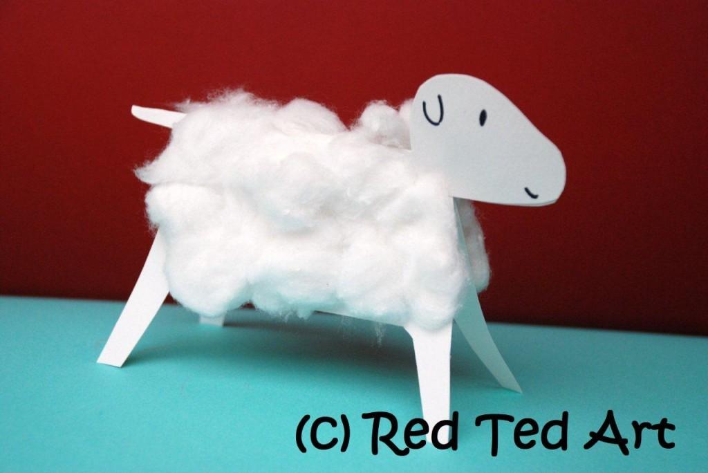 3D Woolly Lamb