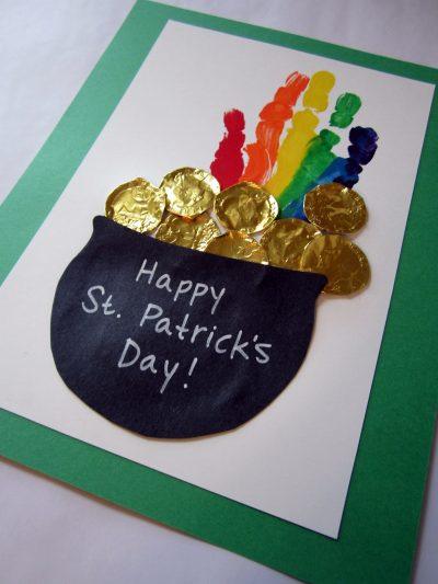 St. Patrick's Day Handprint Rainbow