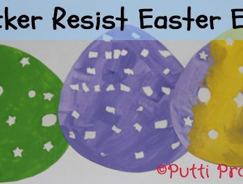 Sticker resist Paper eggs