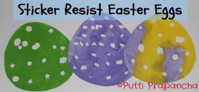 Sticker resist Paper eggs