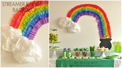 Streamer Rainbow and Pot of Gold
