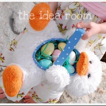 Stuffed Animal Easter Basket