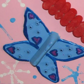 Styrofoam Egg Carton Butterfly