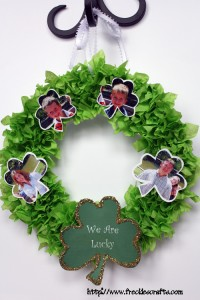 """We are Lucky"" Wreath"