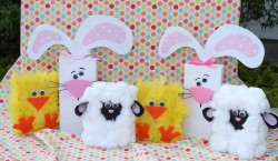 Wood Bunnies, Lambs and Chicks