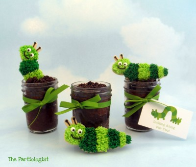 Inch Worm Cupcakes