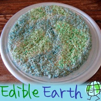 Earth Day Rice Krispy Treats