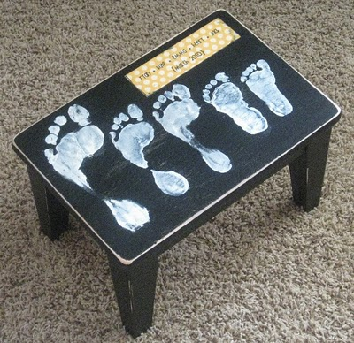 Turn a plain wooden step stool into a precious gift for Mom for Mother ...
