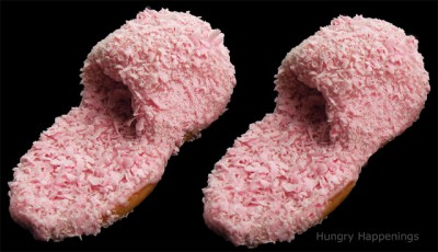 Pink Fuzzy Slipper Cookies