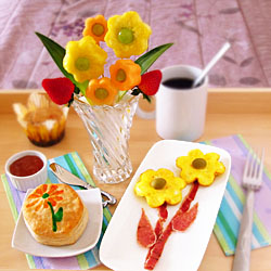 Mother's Day Flowery Breakfast in Bed