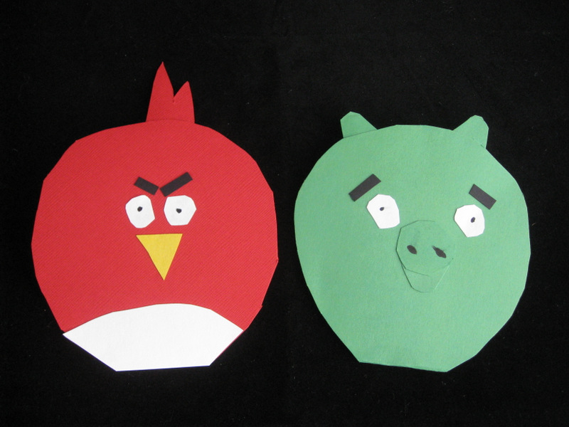 Angry Birds Shaped Cards