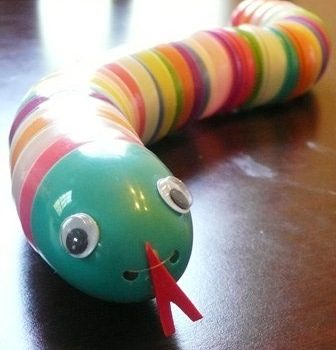 Recycled Easter Egg Snake