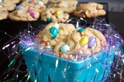 Pretzel and M&M Peanut Butter Cookies
