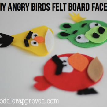 Angry Bird Felt Board Faces