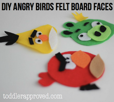 Angry Bird Felt Board Faces