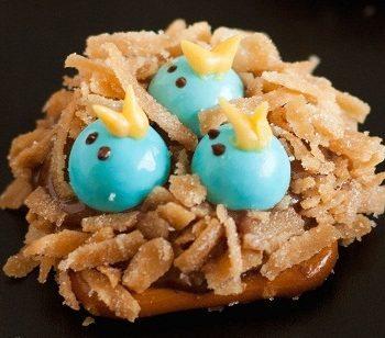 Baby Bird Nest Pretzels