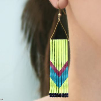 Bobby Pin Chevron Earrings