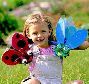 Garden Bug Puppets