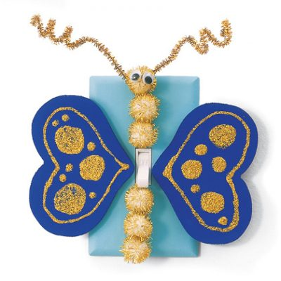 Golden Butterfly Switch Plate