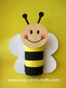 Cardboard Tube Bumble Bee