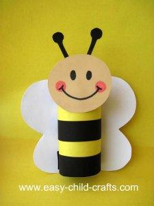 Cardboard Tube Bumble Bee