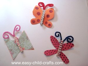 Clothespin Butterflies