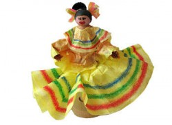 Clothespin Mexican Dancing Doll