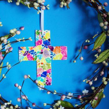 Easter Mosaic Cross